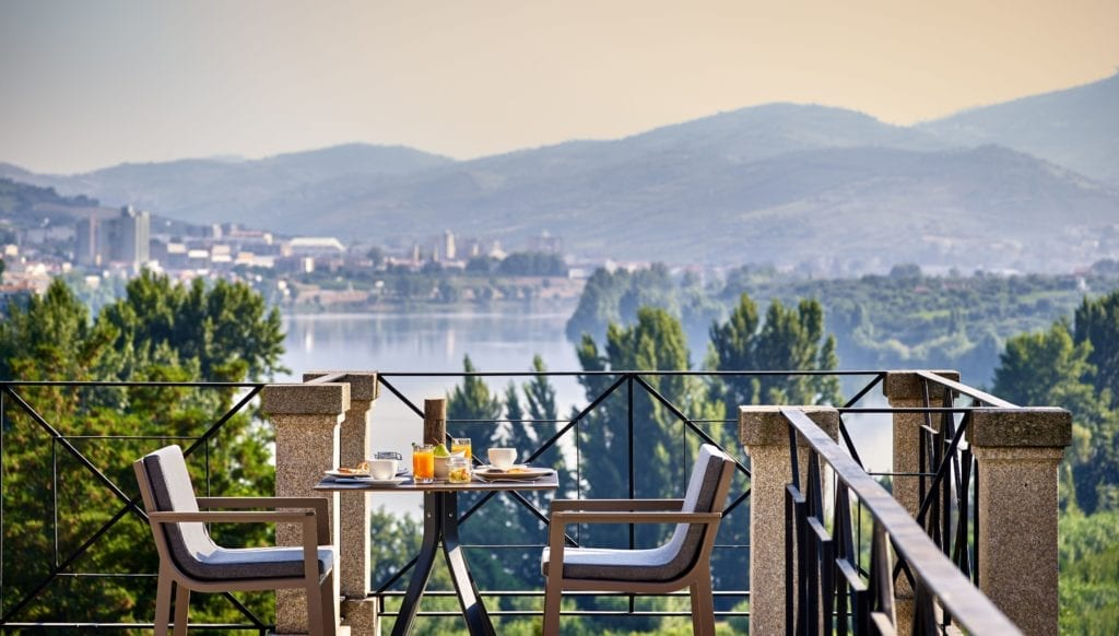 Breakfast with a view at six senses douro valley Portugal