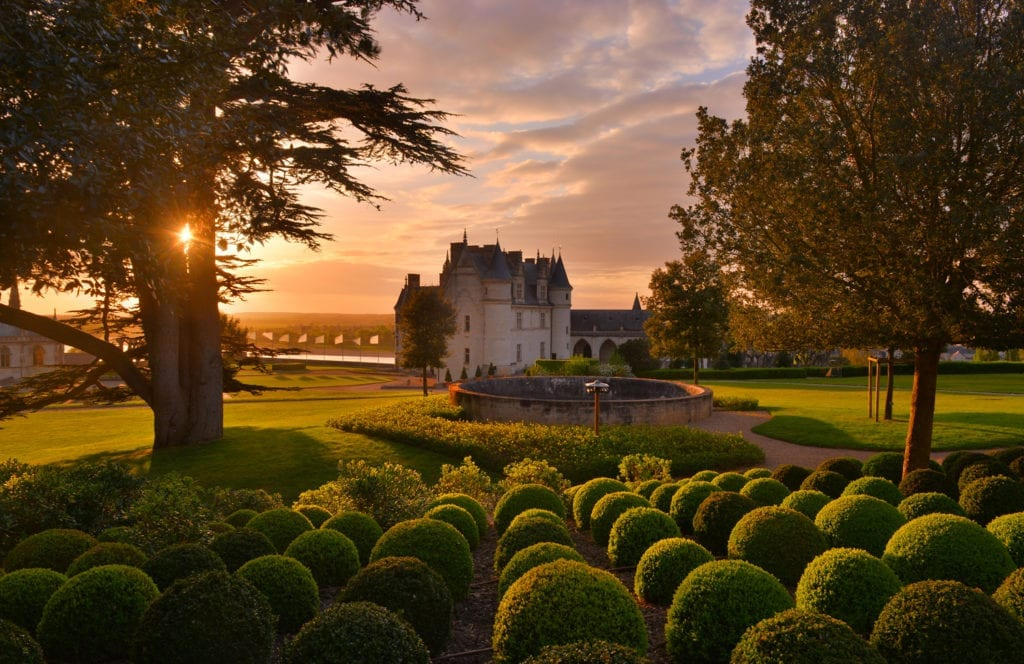 Chateau d'Amboise France at Sunset