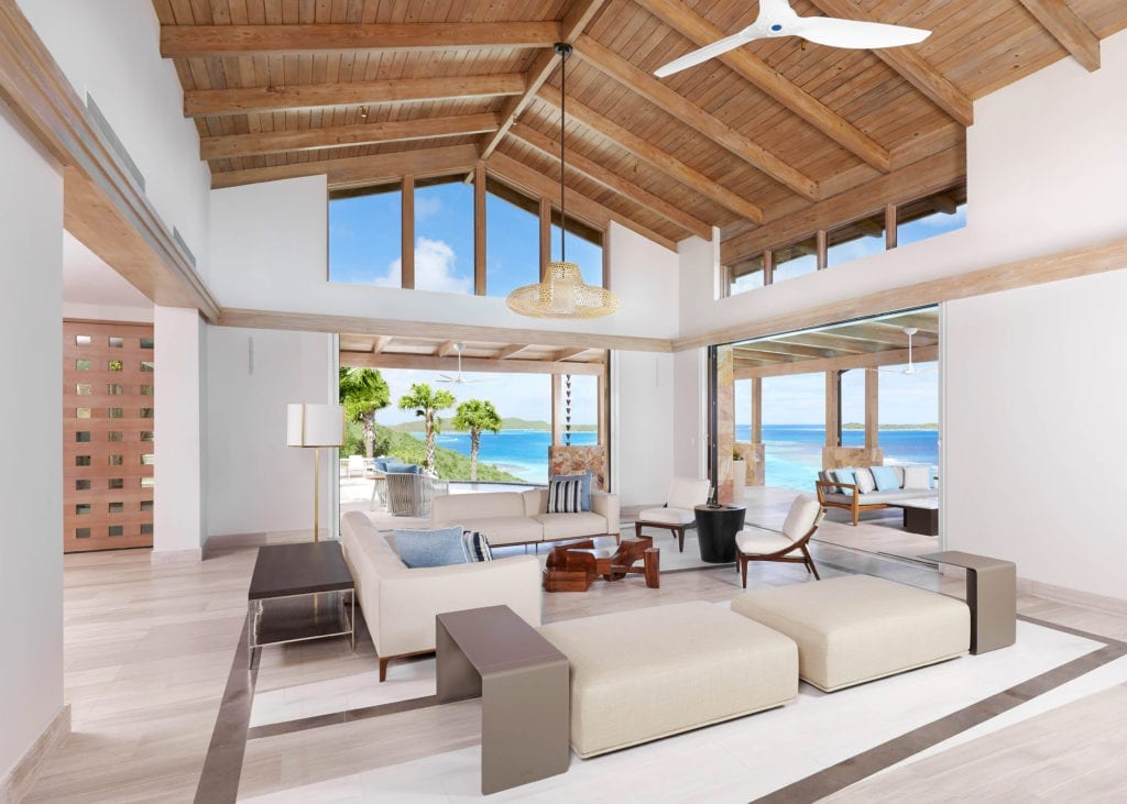 Living Room Interior and View at Oil Nut Bay British Virgin Islands Caribbean
