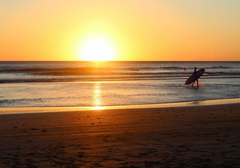 Nicaragua Surfer Sunset