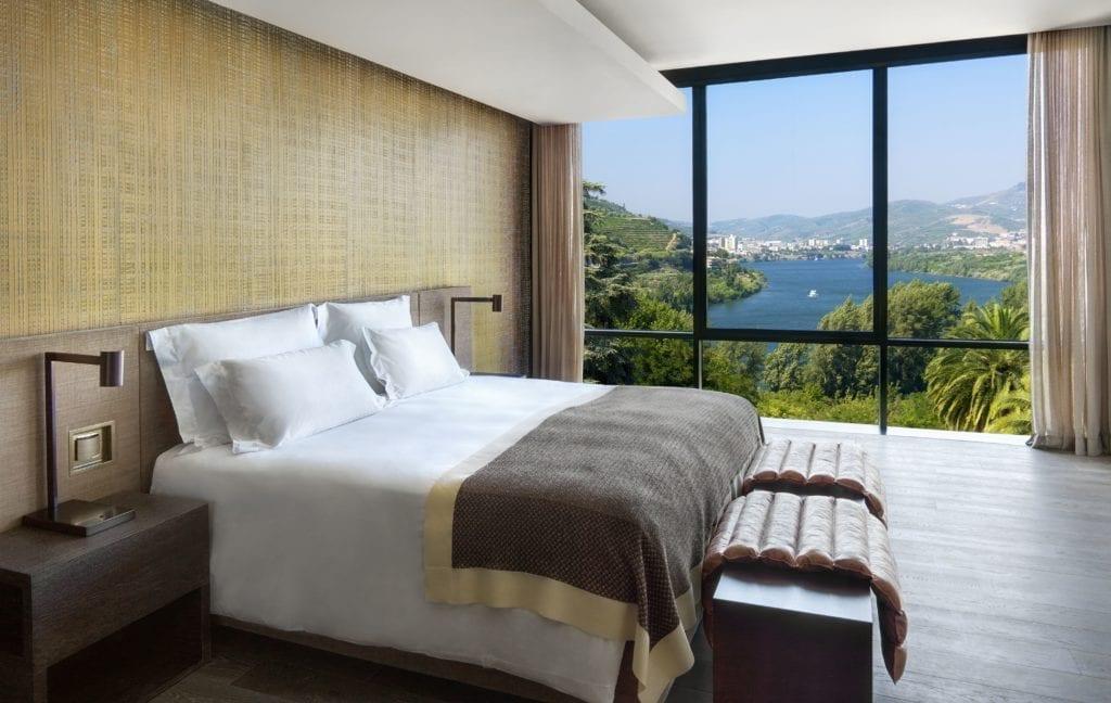 Quinta Panorama Suite Bedroom Interior Six Senses Douro Valley Portugal