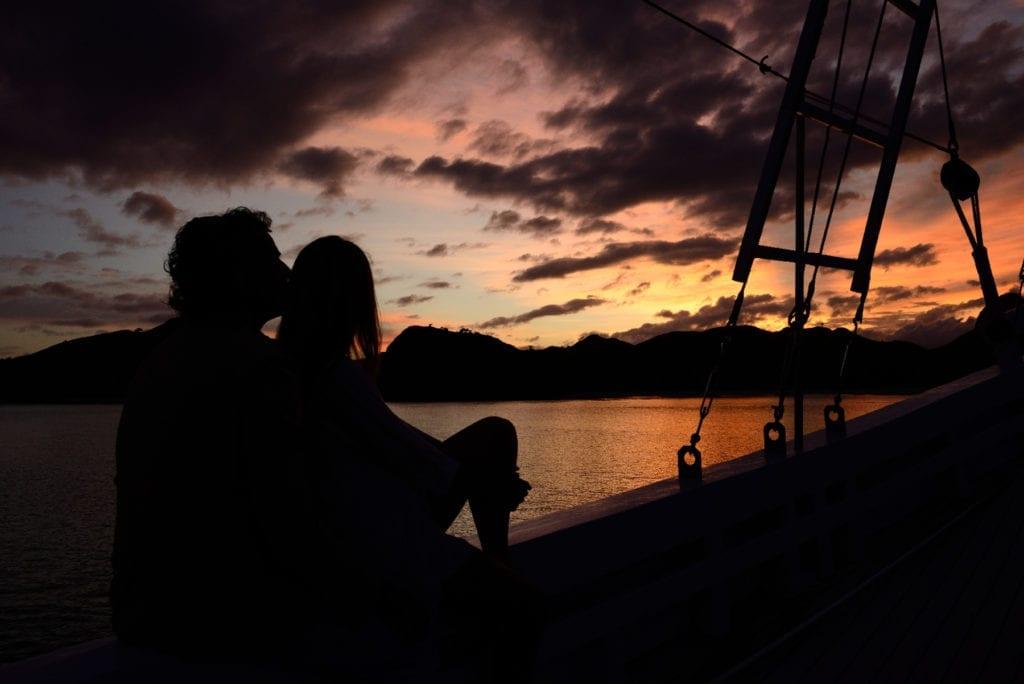 Sailing Yacht Alexa Sunset