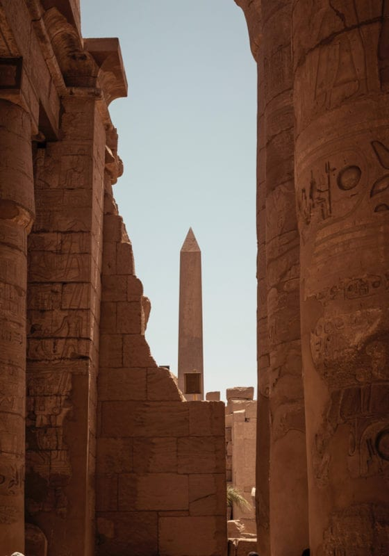 Ancient city ruins in Egypt