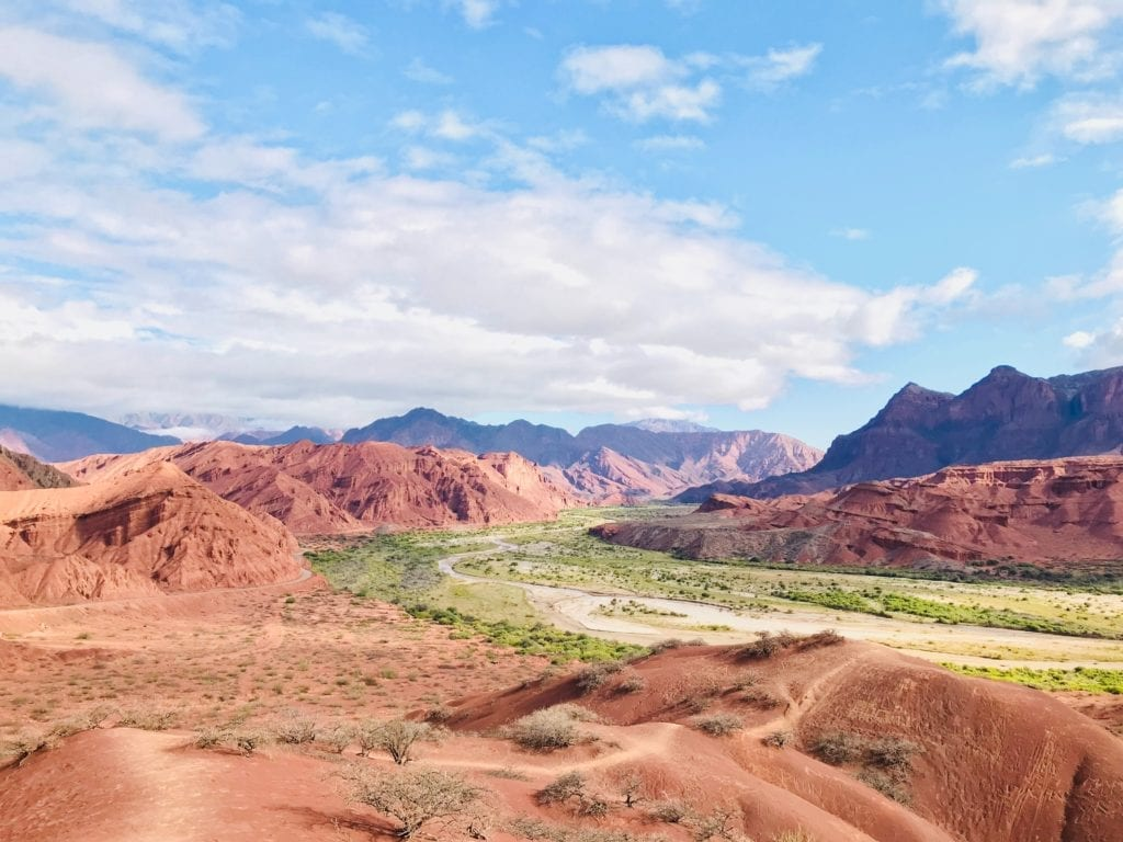 red rock scenery argentina