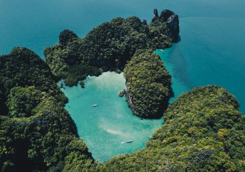 Birds Eye View of Thai Islands
