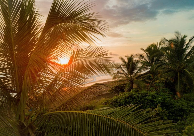 sunset ocean costa rica