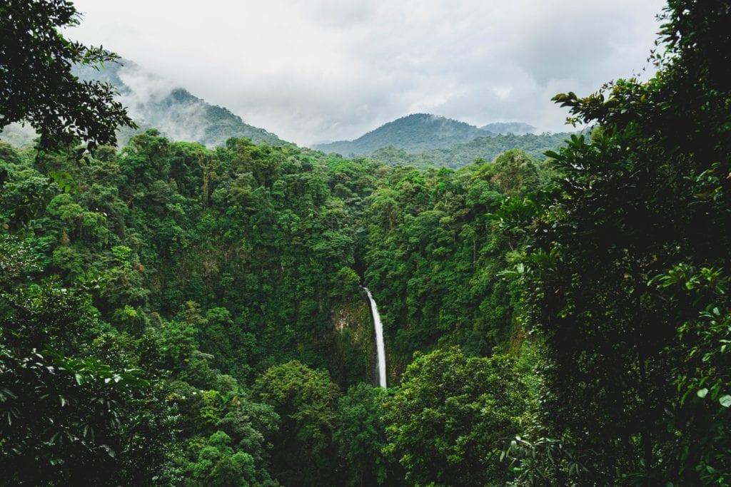 waterfall rainforest costa rica