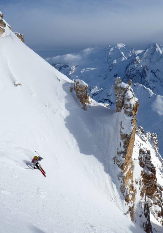 Dolomites Skiing Off Piste