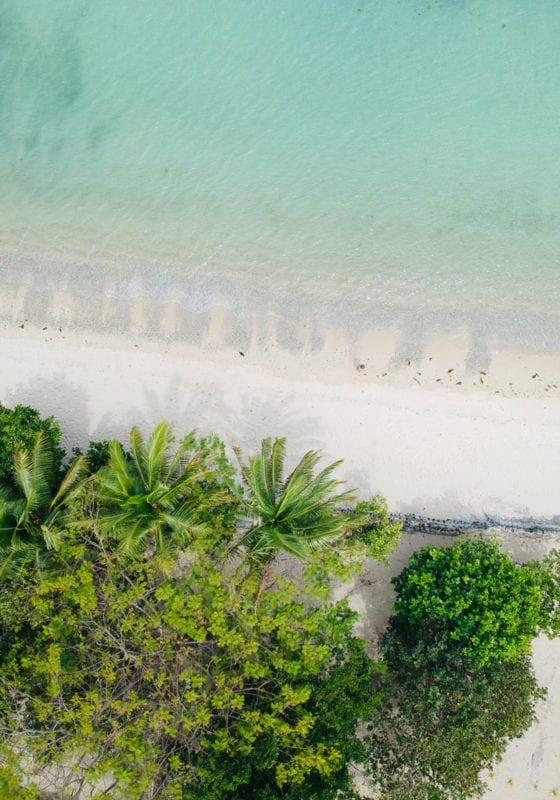 White sand beaches in Fiji