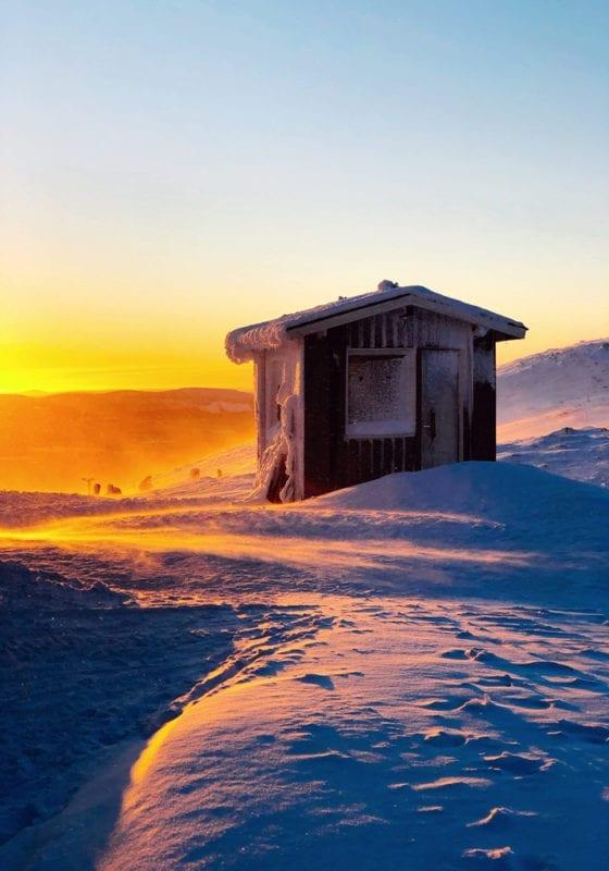 Sunset across Finnish Lapland