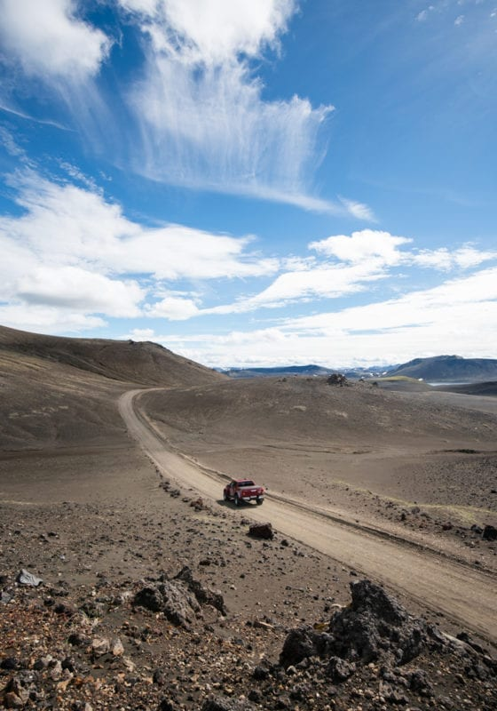 Four wheel driving in Iceland