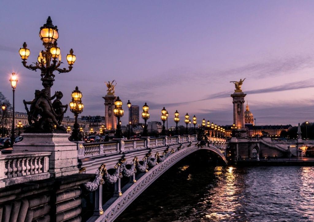 seine river bridge paris france