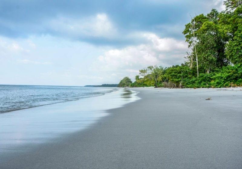 Coastline and beaches in Gabon