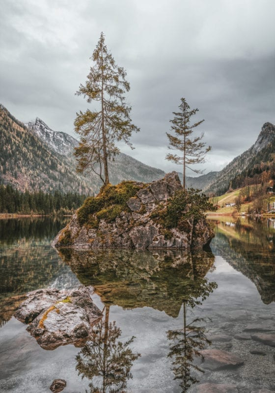 Lakes and mountains in Bavaria Germany