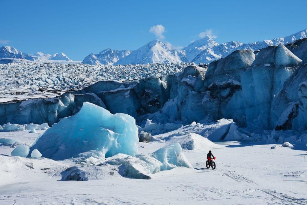 bike alaska glacier