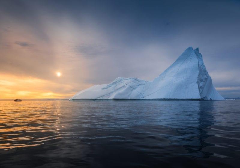 Greenland Sunset Over Ocean
