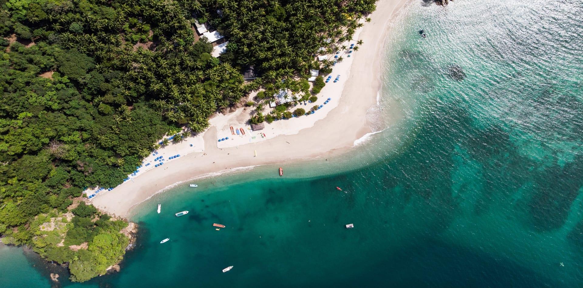 aerial view costa rica coastline
