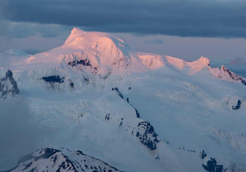 Iceland Sunset Skiing