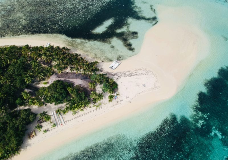 Fiji aerial of island