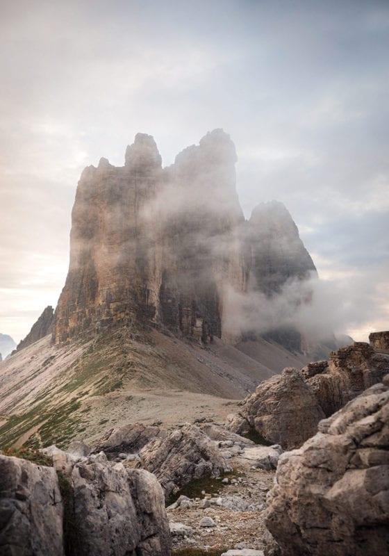 Three Zinnen mountains Dolomites