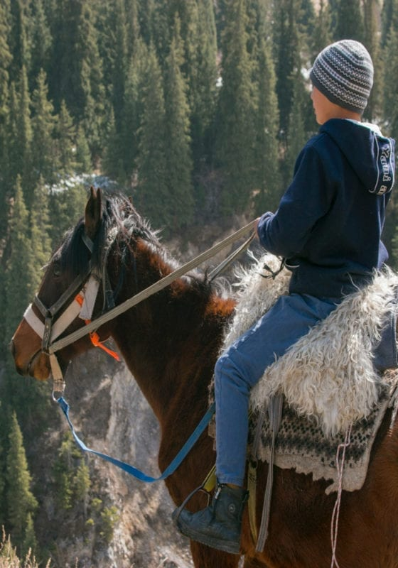 Kazakhastan horse rider