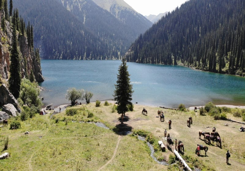 Horse riding in Kazakhstan