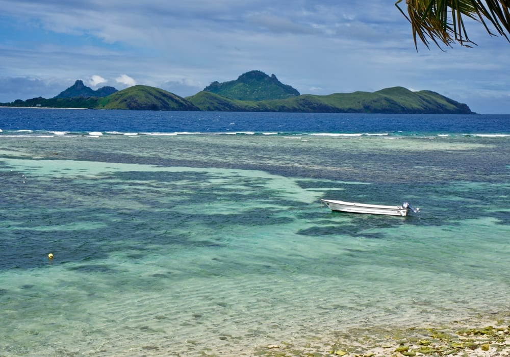 Lagoons and reefs in Fiji