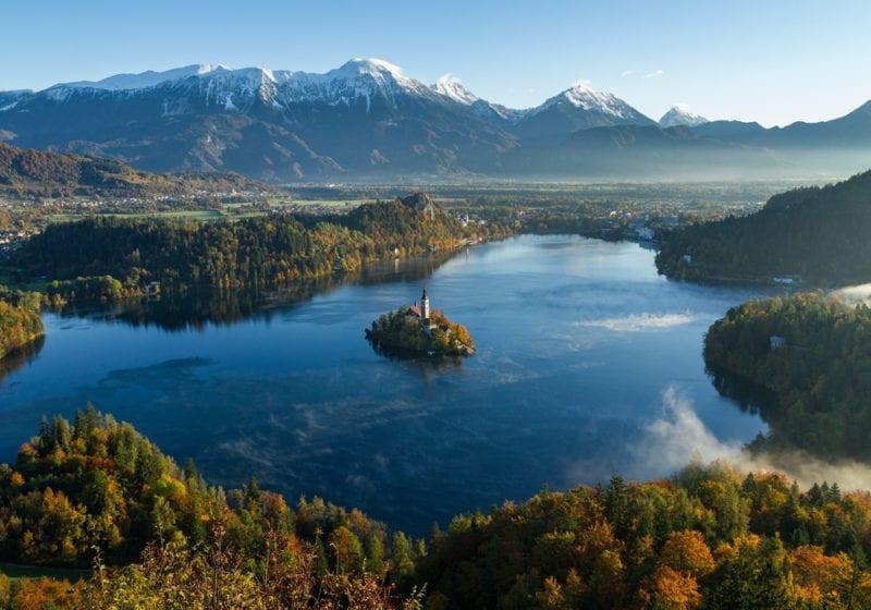 Lake Bled Slovenia Aerial