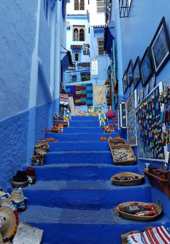 Blue city Marrakech Morocco