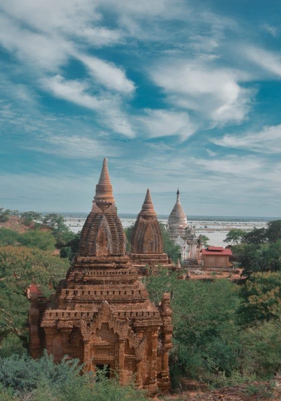 Myanmar Temple Tops