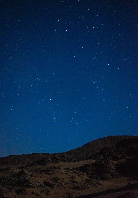 Stars in the Moroccan desert