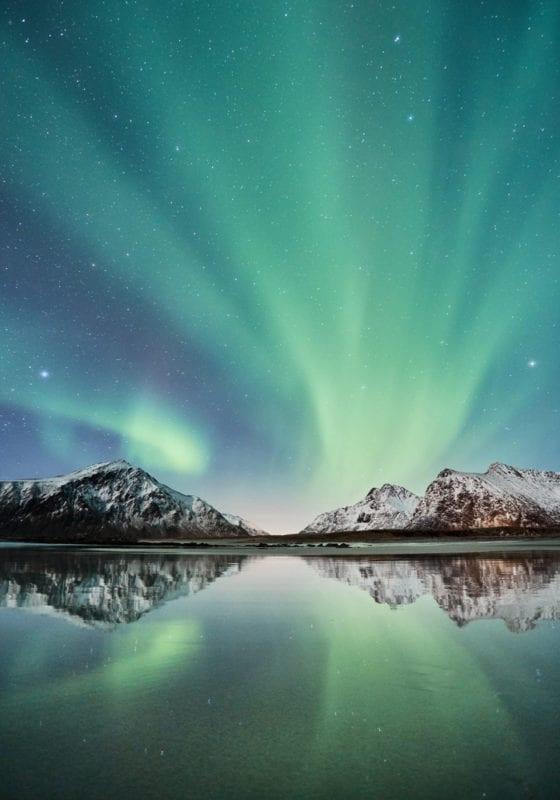 Norway Northern Lights Lake