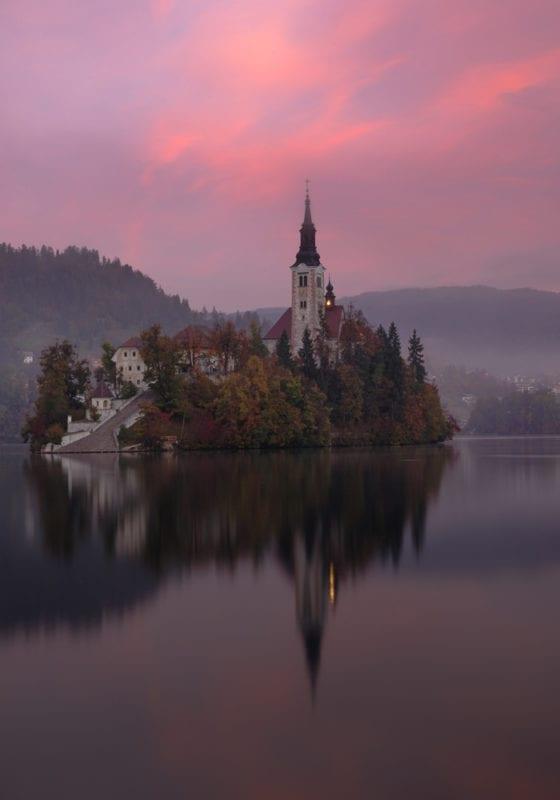 Slovenia Lake Bled Island