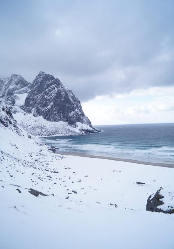 Snow on Beach Norway