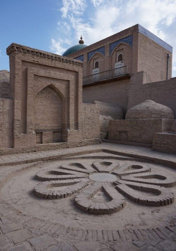 Stone Temple Courtyard Uzebkistan
