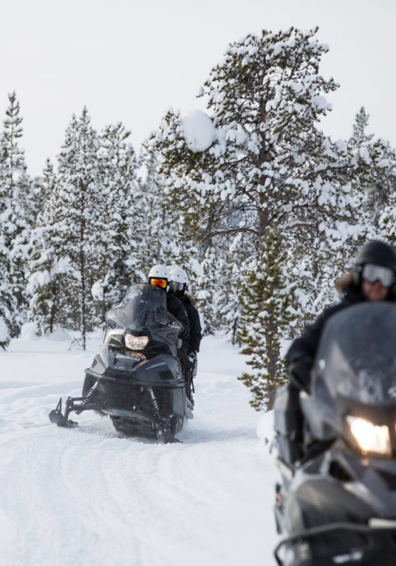 Sweden Arctic Lodge Snowmobiling