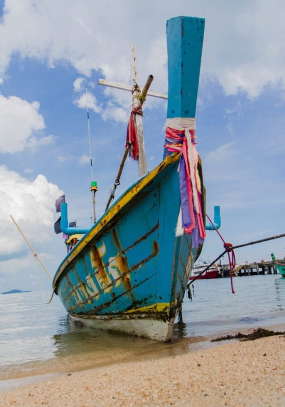 Boat on the Beach in Thailand