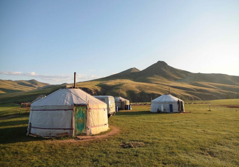 Yurt Mongolian Countryside