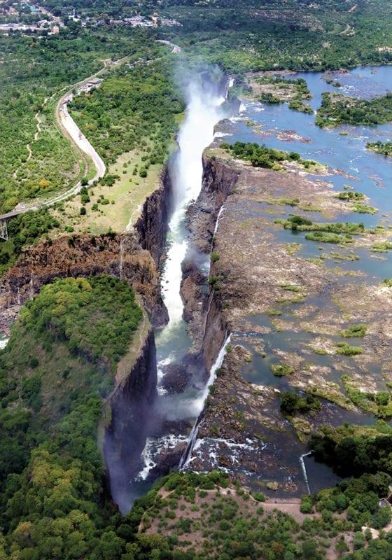 aerial victoria falls zambia