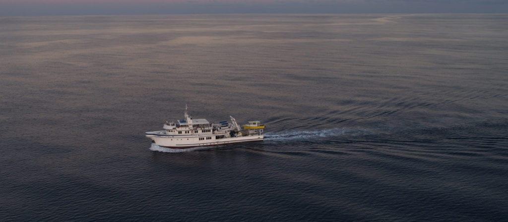 Argo Yacht Aerial View Exterior