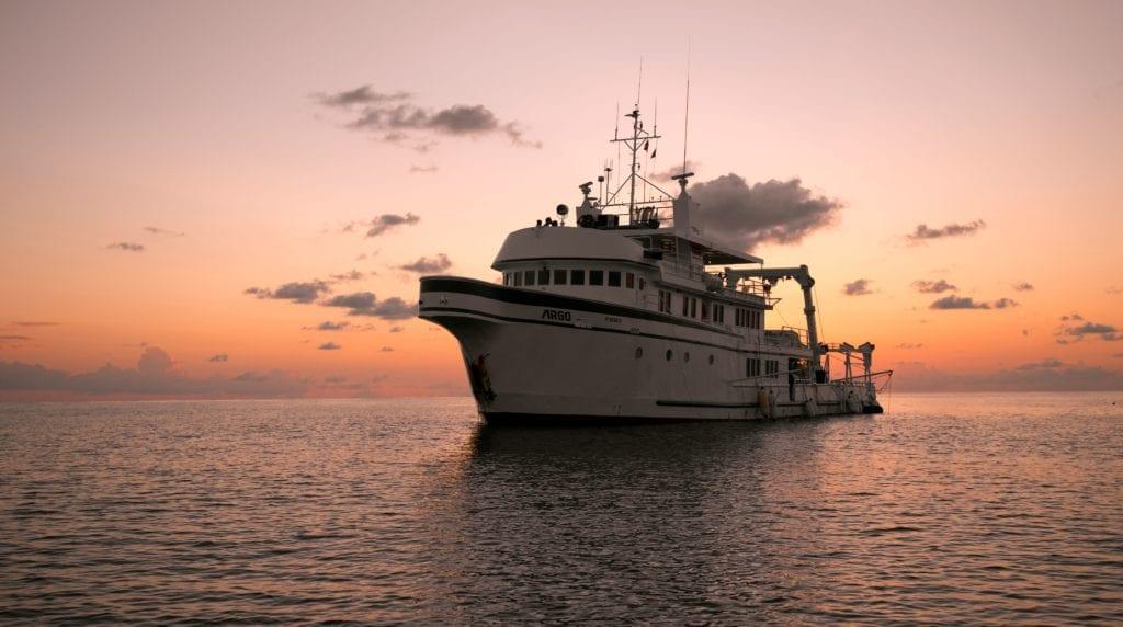 Argo Yacht at Sunset