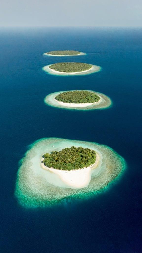 Baa Atoll Island Archipelago Aerial View Maldives