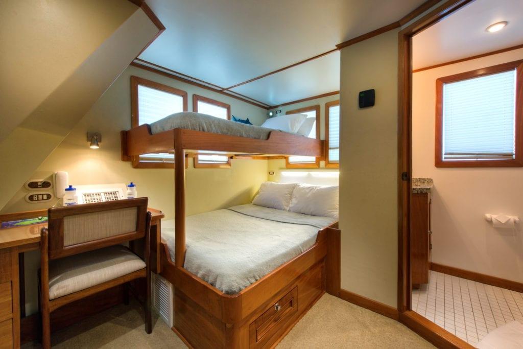 Bunk Bed Room Interior on Argo Yacht