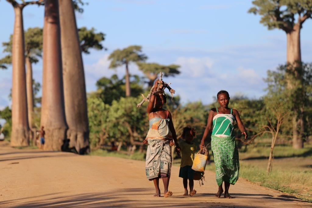 Locals Walking in Madagascar