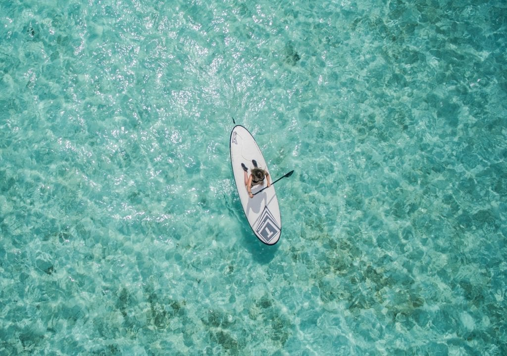 Stand Up Paddleboard in the Maldives