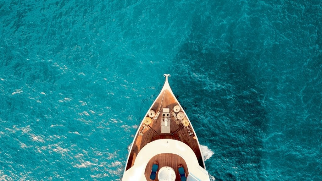 Hull of Yacht in the Maldives