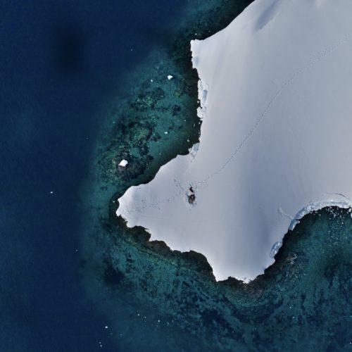 aerial ice cap antarctica