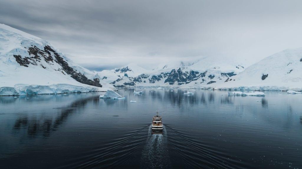 vessel sailing antarctica