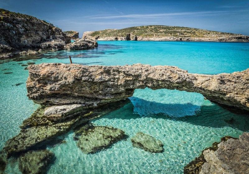 Pristine Blue Lagoon Malta Waters Viewing Malta Credit