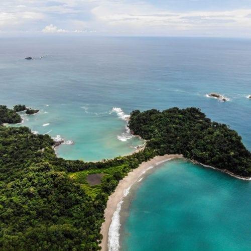 Coastal Formations on coast of Costa Rica